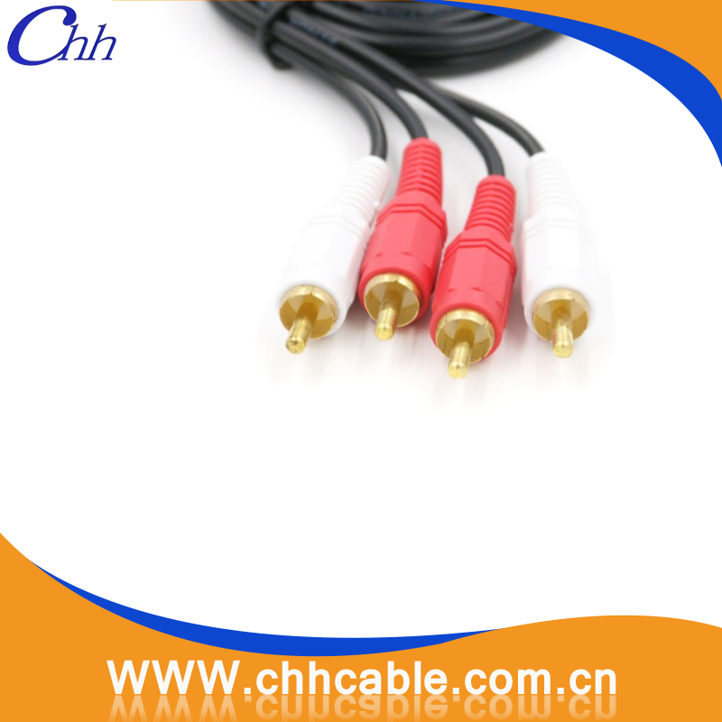 Hot selling 2RCA to 2 RCA Audio Video DVD RCA Cable for Set Top Box and DVD Player