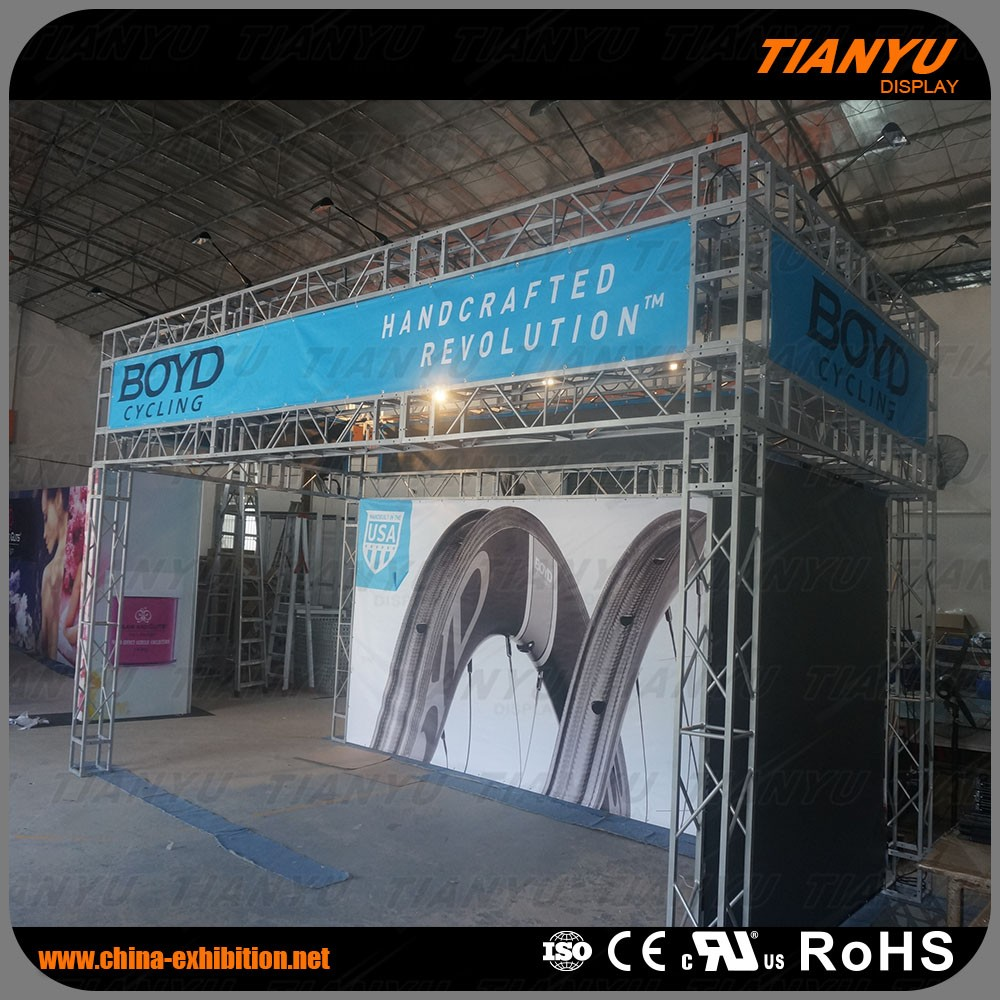 Highest Level Customize Truss Booth Fashion Show Stage Lighting Truss System For Tradeshow