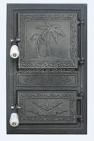 iron casting fireplace doors with black color