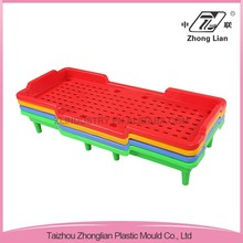 Plastic material colorful stacking design nursery school toddlers bed