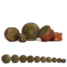 12mm Brass Plug Wooden Ear Plug Piercing Expander Tunnels