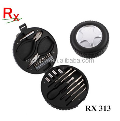 24pcs Gift Tyre shape tool set and car wheel tool kit