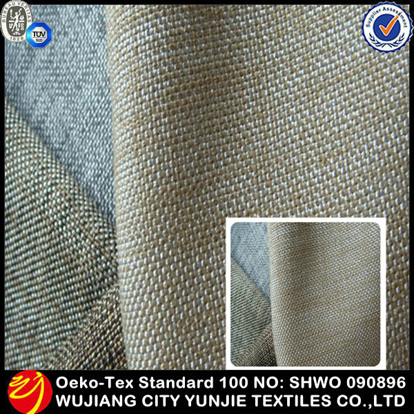 100% Polyester Faux Linen Upholstery Fabric Germany For Home