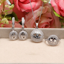 925 sterling silver&gold plated women wedding jewelry set