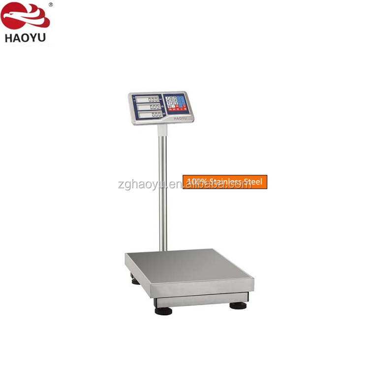 watreproof and dustproof tcs electronic price platform scale 300kg, calibration of tcs platform scale CCC CE certified haoyu