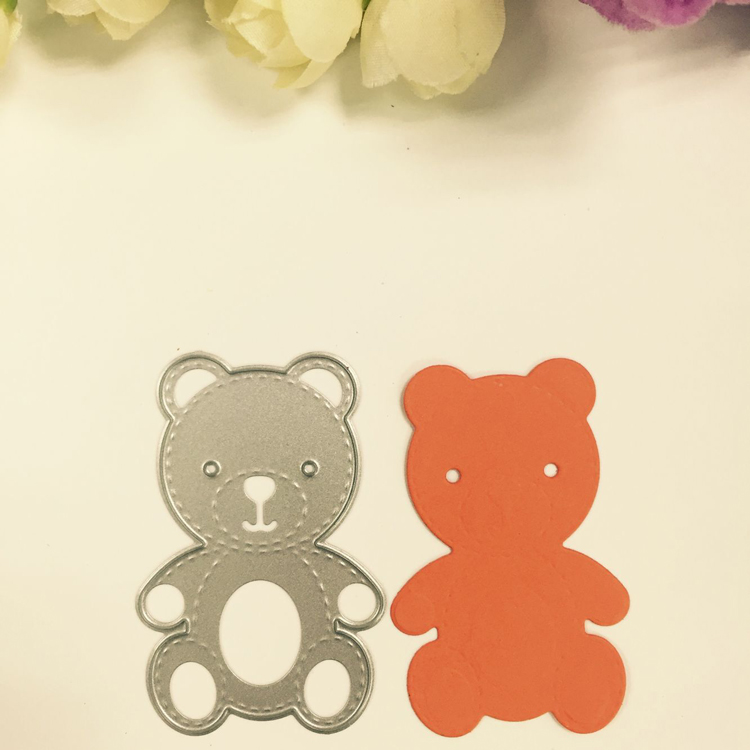 Teddy Bear Craft Stencil Cutting Die For Scrapbook