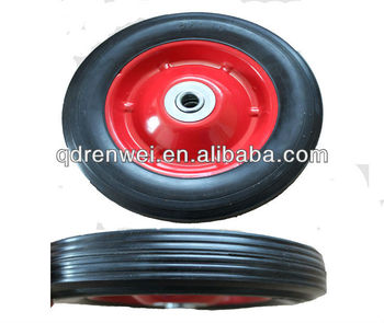 8*1.75 rubber solid wheel,solid rubber wheel