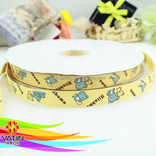 custom printed animal pattern ribbon /custom made ribbon for packing