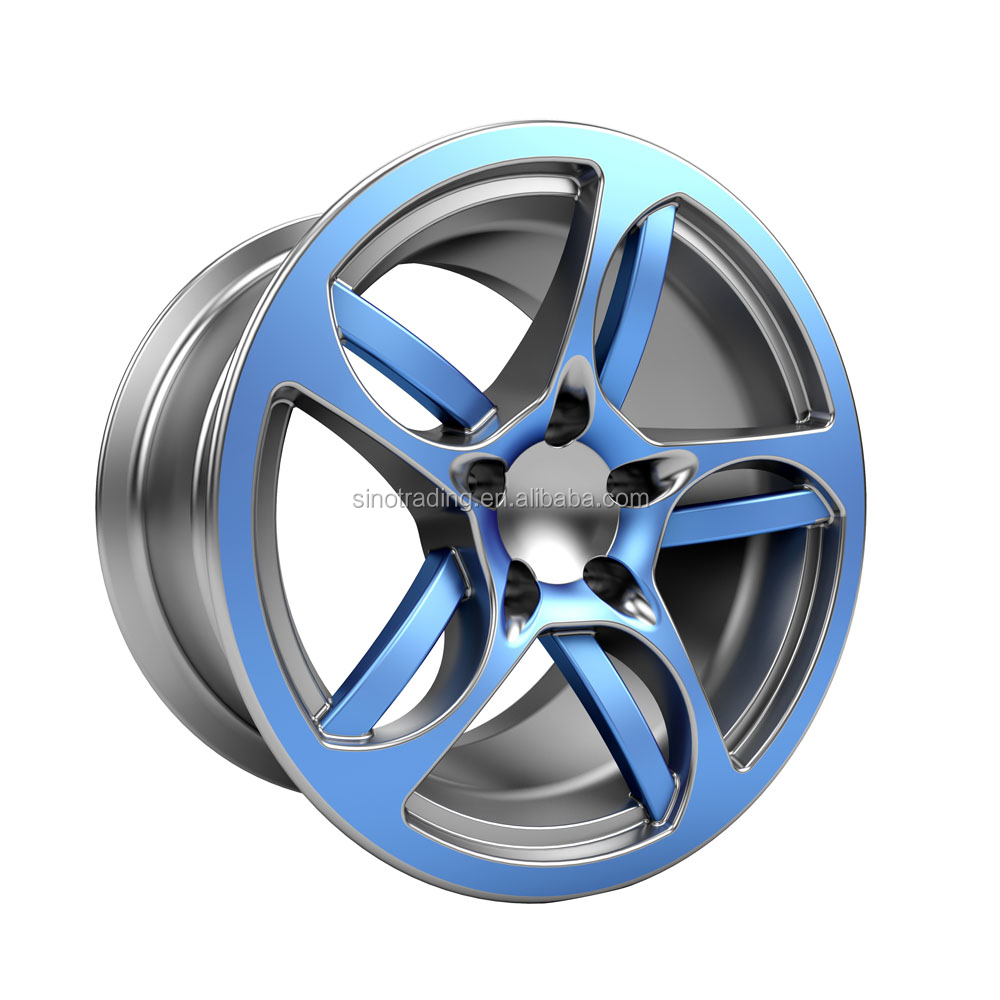 China wholesale 17 inch blue wheel rim new color product for 2016