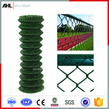 Green Galvanized Steel Wires PVC Coating Garden Fencing Chain Link Wire