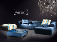 Divany Furniture living room furniture sofa LS-104D(R )+H+F(L) design mission style furniture