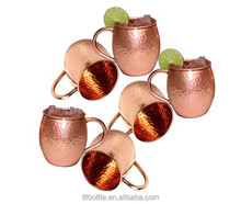 Copper planted candle jar, 13oz candle container without handle, MINI antique copper candle holder