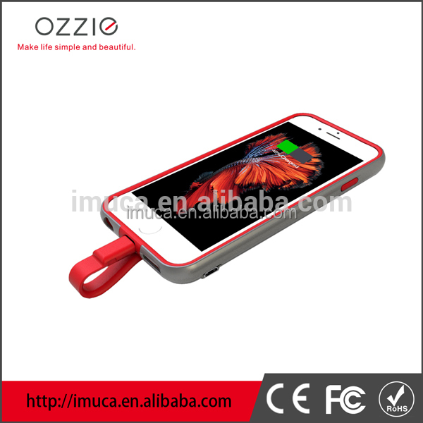Patented wireless OZZIO Slim design ROHS battery case for Iphone 5
