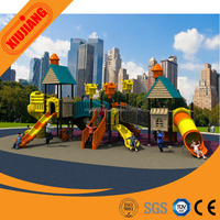 2015 China factory commercial kids plastic slide outdoor playground equipment (XJ118A)