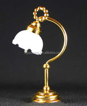 Wholesale Dollhouse Miniature Table Lamp Tulip LED Battery Operated System Lighting QW21021