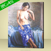 Chinese Nude Sexy Girl Body Wall Art Painting