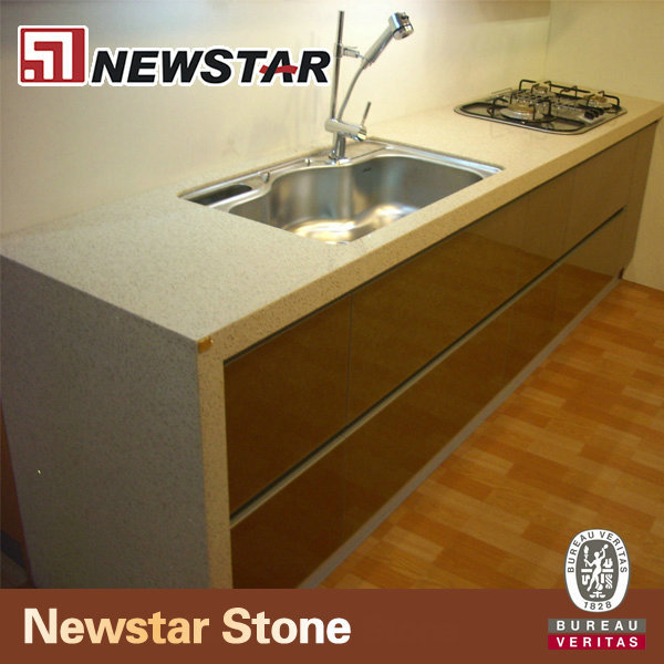 White sparkle Quartz stone vanity top