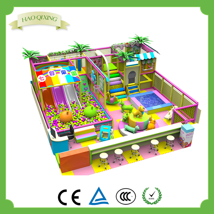 Indoor playground cheap plastic playhouse