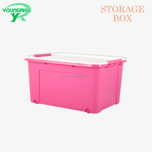 60L Red waterproof plastic food storage containers with wheels