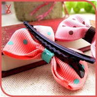 WT61 Korean children headdress wholesale dot bow ribbon hairpin wholesale