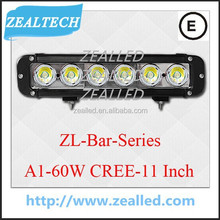 Good waterproof LED Bar For car Mount Kits A1 Series LED Bar 11inch 60W car Bar Made from C REE-XML-T6