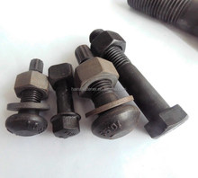 high strength steel hex bolt witth nut,oval head bolt with nut,flange blt with nut