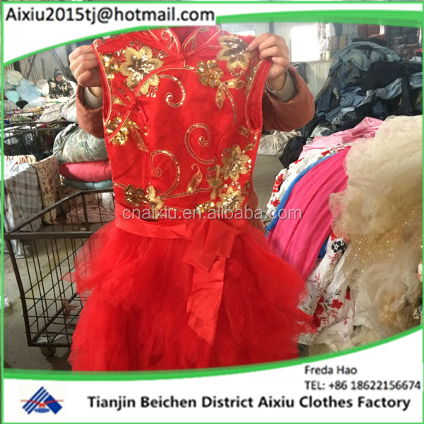 High quality evening dress ladies second hand clothes in bales