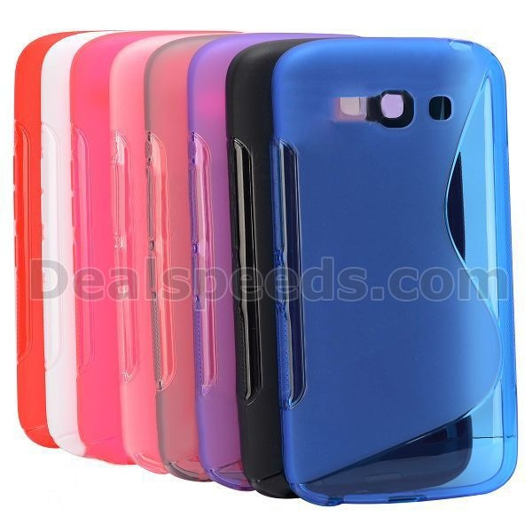 Simple Soft S Shape Design Gel TPU Case for Alcatel One Touch POP C9 Dual 7047D(Blue)