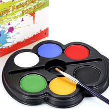 6 Colors Children makeup body painting palette make up party face paint for kids