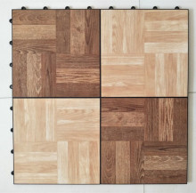 New PP flooring with vinyl coating,Interlocking PP PVC Wooden Exhibition Showing Dance Floor Tile,PP + PVC floor tile