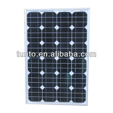 High Efficiency 50W CE/TUV Monocrystalline Silicon photovoltaic Solar Panel for Home Electricity