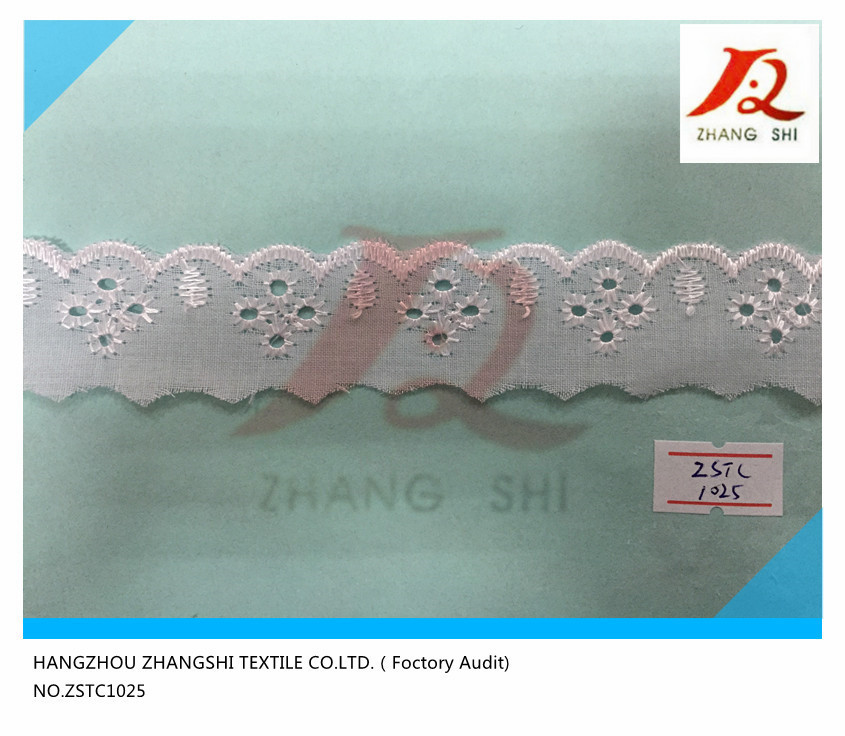 T/C Lace Embroidery Trimming,Hot sales in Brazil !ZSTC1025