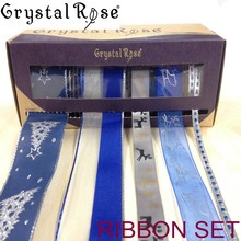 Crystal Rose grosgrain mini spool ribbon package for gift wrapping