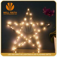 20 Battery Operated LED Ultra Slim Wire Star Christmas Fairy Lights Warm White