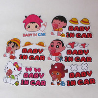 car products,Lovely stickers Warning Sign sticker BABY in CAR ,car sticker design