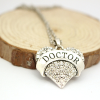 TV Jewelry TARDIS Necklace Mysterious Doctor Heart Shape Pendent Necklace With Chain Necklace