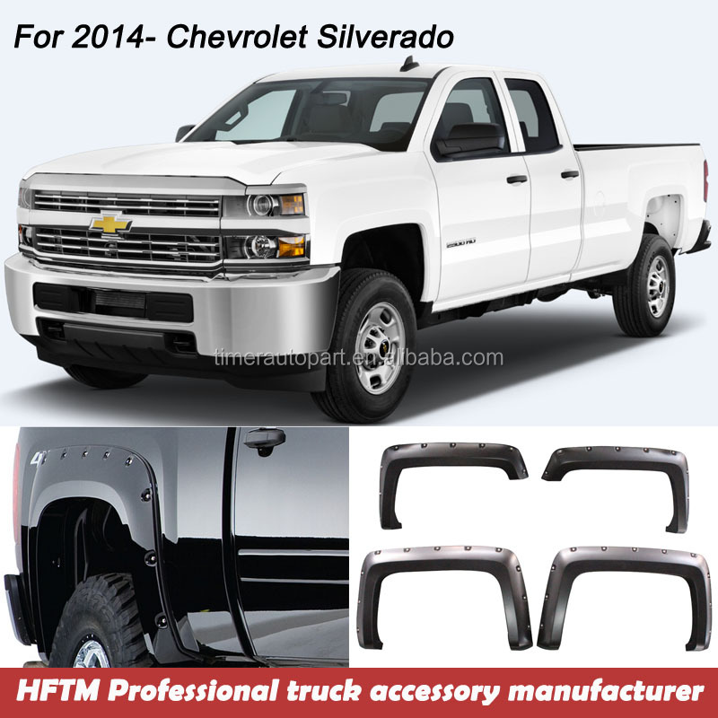for Silverado 1500 2014- Thicker pickup 4x4 quality guaranteed Wheel Flares