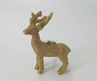 Christmas Decoration Polyresin Golden Deer Ornament