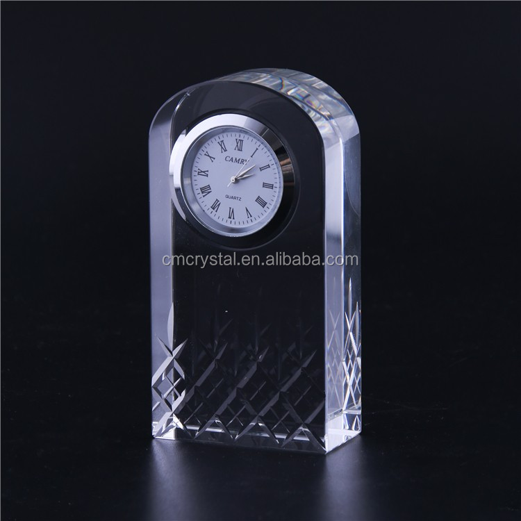 High Quality Crystal Business Gift Crystal Clock Manufacturer