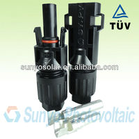 solar TUV approved, IP68,female&male pair,2.5/4/6/10mm2 solar cable/wire,Amphenol sytem MC4