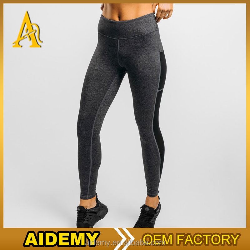High quality women fitness legging 2017 slim fit body grey yoga leggings