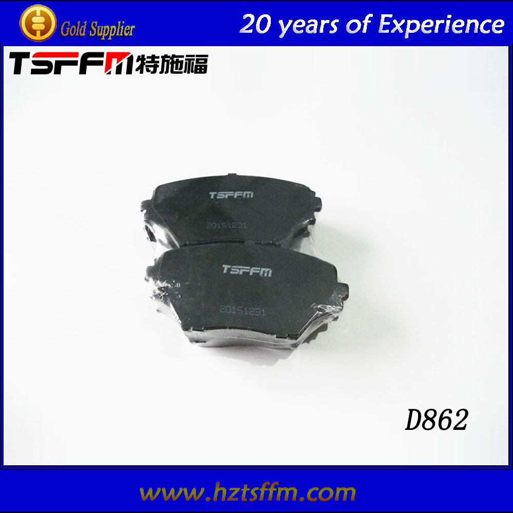 high performance China ceramic brake parts brake pad system factory