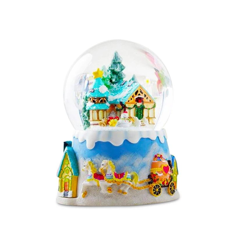 2019 most popular fancy design resin christmas snow globe