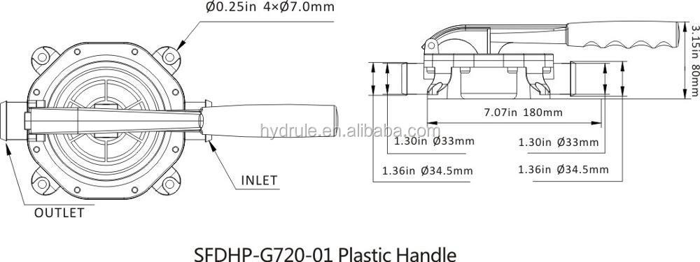 Ручной насос 12 В 720GPH диафрагмы, ручной насос для каяк лодка Yacht