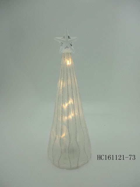 Christmas led glass cone-shape tree lights decorations