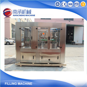 Carbonated Soft Drink Aluminum Can Tin Can Filling Sealing Machine / Line