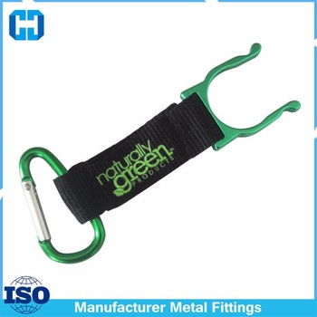 Aluminum Alloy Convenient Carrying Clip With D-Ring Hook Carabiner