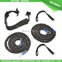 Sleeved covered recoil resistance speed training bands