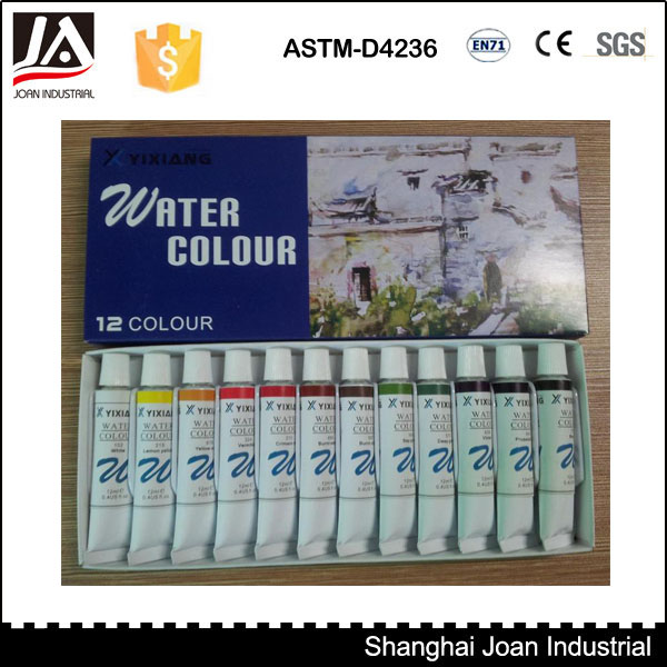 12 colors 12ml water colours for artiest or kids