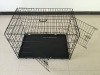 folding heavy duty black dog kennels outdoor double doors folding dog kennels